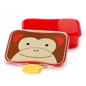 美国skip hop可爱动物园午餐盒 猴子 6个月以上