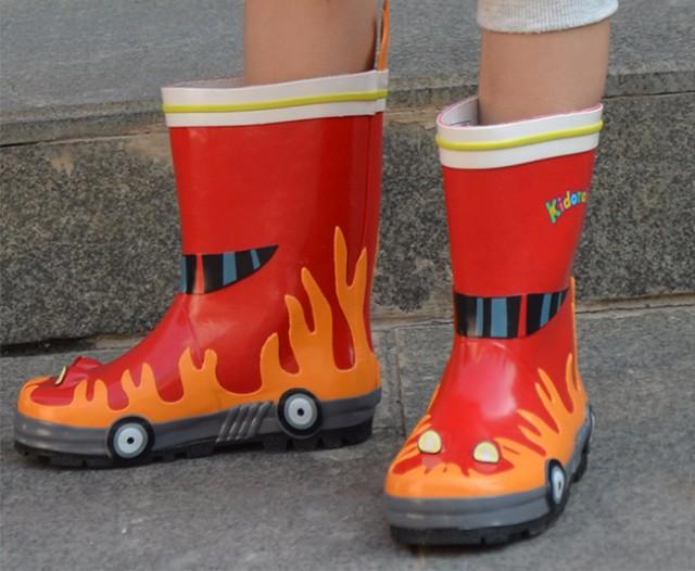 美国kidorable可爱多消防员系列雨靴 大红-小树熊母婴